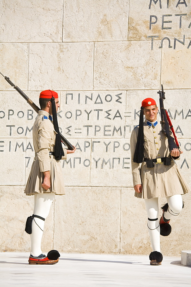 Changing of the Guard at the Tomb of the Unknown Soldier, Athens, Greece, Europe