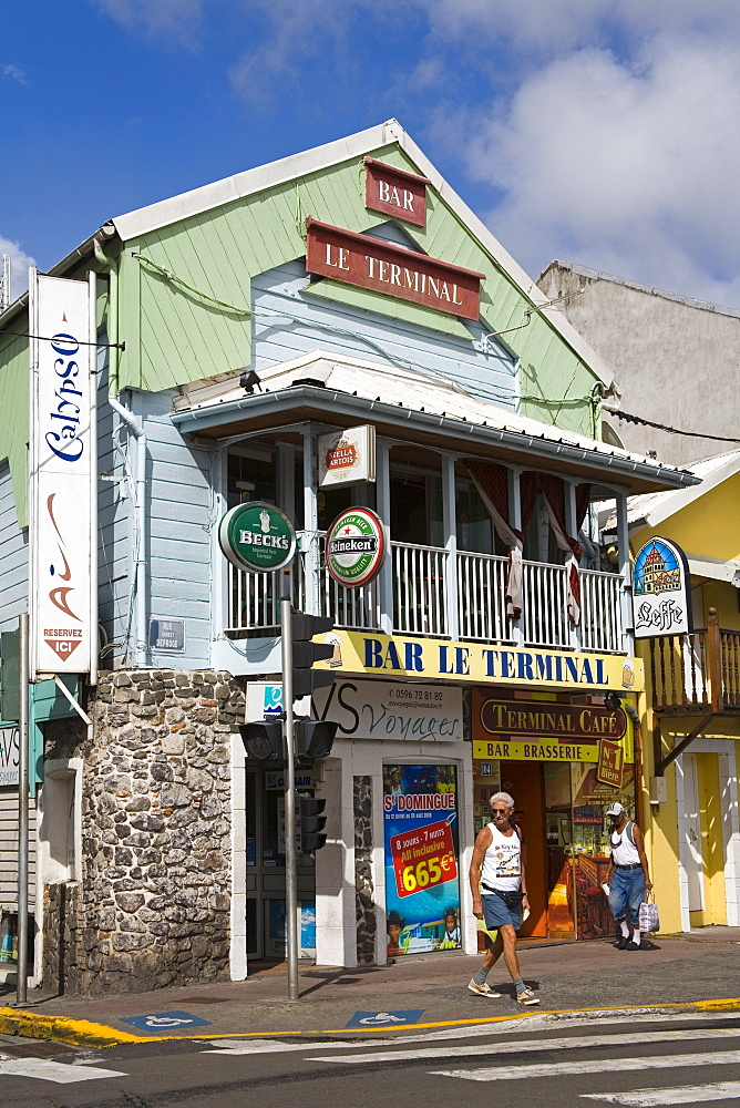 Terminal Bar on Ernest Deproge Street, Fort-de-France, Martinique, French Antilles, West Indies, Caribbean, Central America