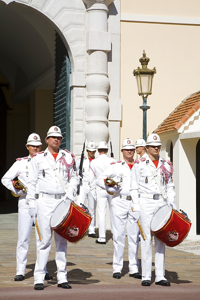 Changing of the Guard at the Princes Palace, Monte Carlo, Monaco, Europe