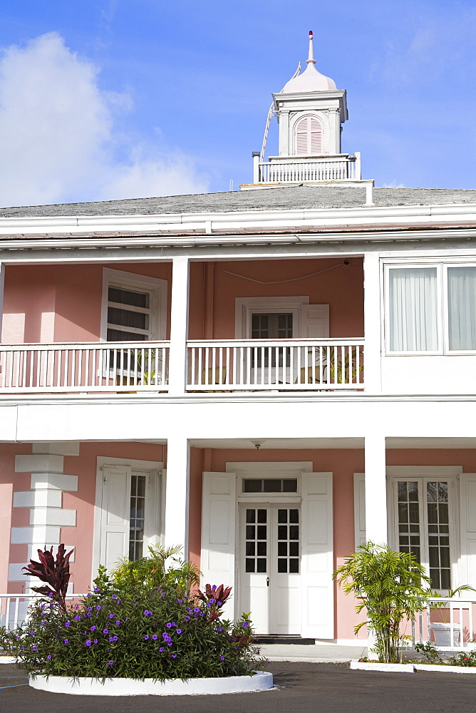 Government House in Nassau City, New Providence Island, Bahamas, West Indies, Central America