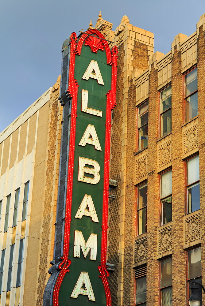 Alabama Theatre on 3rd Street, Birmingham, Alabama, United States of America, North America