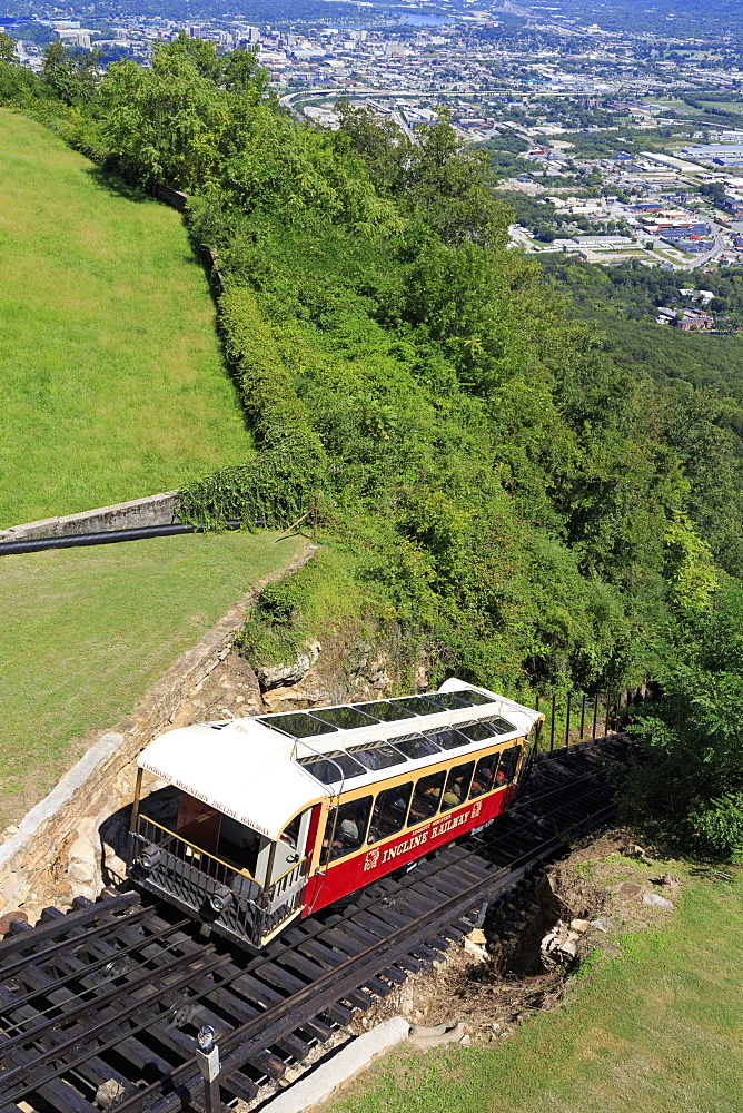 Incline Railway on Lookout Mountain, Chattanooga, Tennessee, United States of America, North America