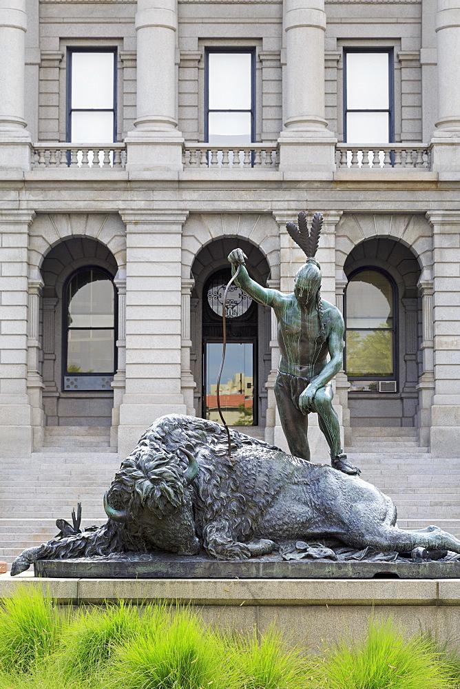 Closing Era statue, State Capitol Building, Denver, Colorado, United States of America, North America