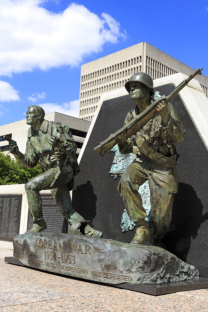 Korean War Memorial in War Memorial Plaza, Nashville, Tennessee, United States of America, North America