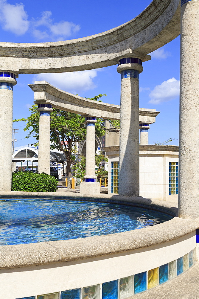 Fountain in Independence Square, Bridgetown, Barbados, West Indies, Caribbean, Central America