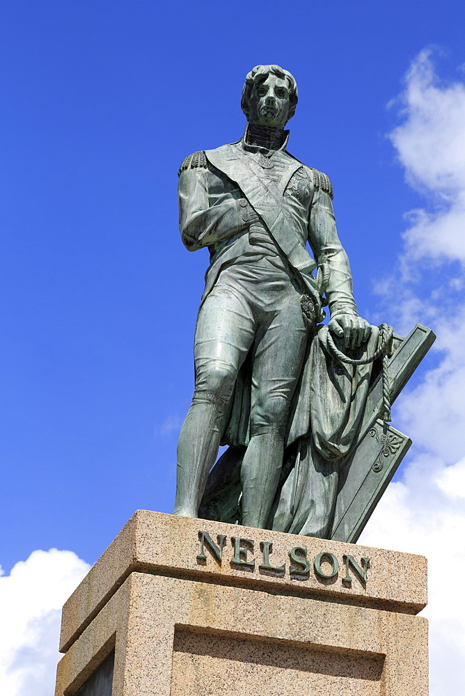 Lord Nelson statue in Bridgetown, Barbados, West Indies, Caribbean, Central America