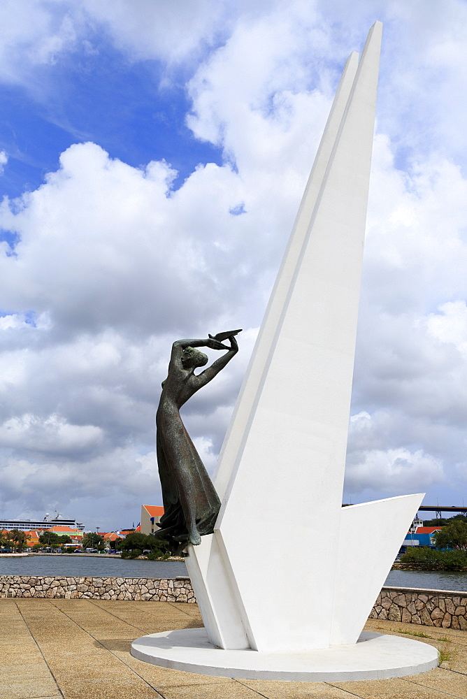 Freedom Monument, Willemstad, Curacao, West Indies, Netherlands Antilles, Caribbean, Central America