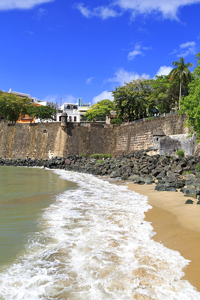 City Walls in Old San Juan, Puerto Rico, West Indies, Caribbean, Central America