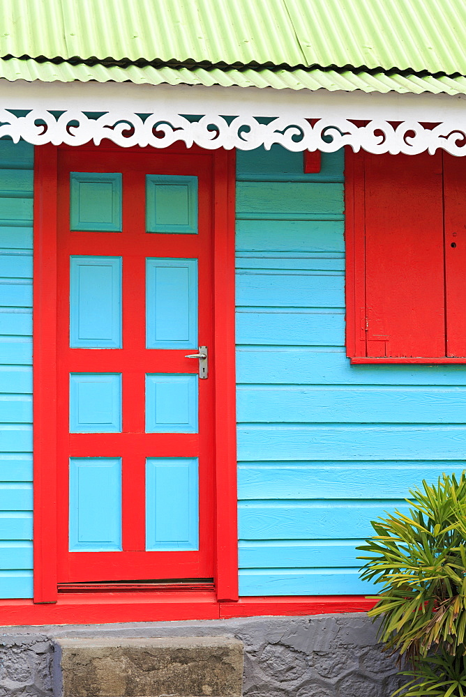 Colorful architecture in Roseau, Dominica, Windward Islands, West Indies, Caribbean, Central America