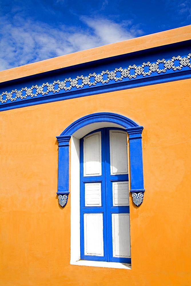 Colonial building in La Asuncion City, Isla Margarita, Nueva Esparta State, Venezuela, South America