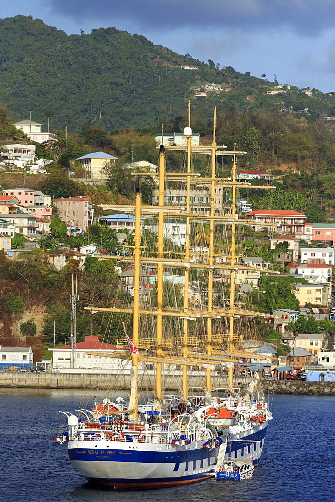 Star Clipper in St. Georges Bay, Grenada, Windward Islands, West Indies, Caribbean, Central America