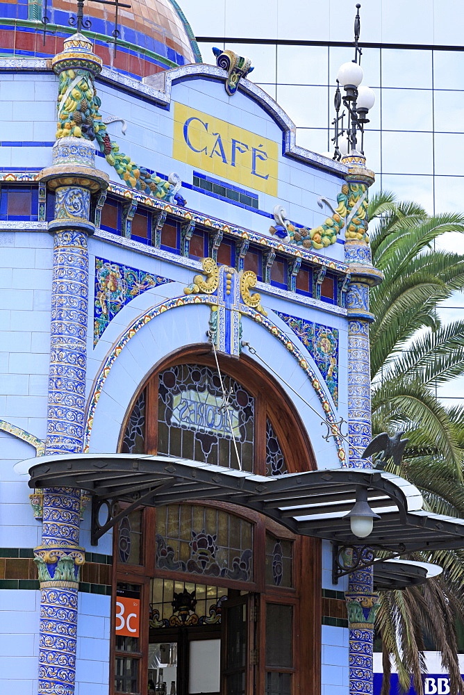Cafe in San Telmo Park in the Triana District, Las Palmas City, Gran Canaria Island, Canary Islands, Spain, Europe