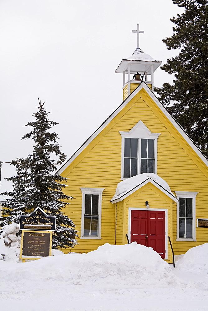 Episcopal church, Breckenridge, Rocky Mountains, Colorado, United States of America, North America - 776-433