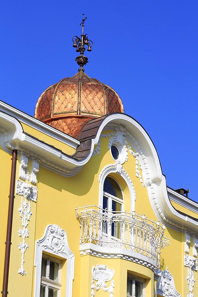 Ornate building in Burgas, Bulgaria, Europe