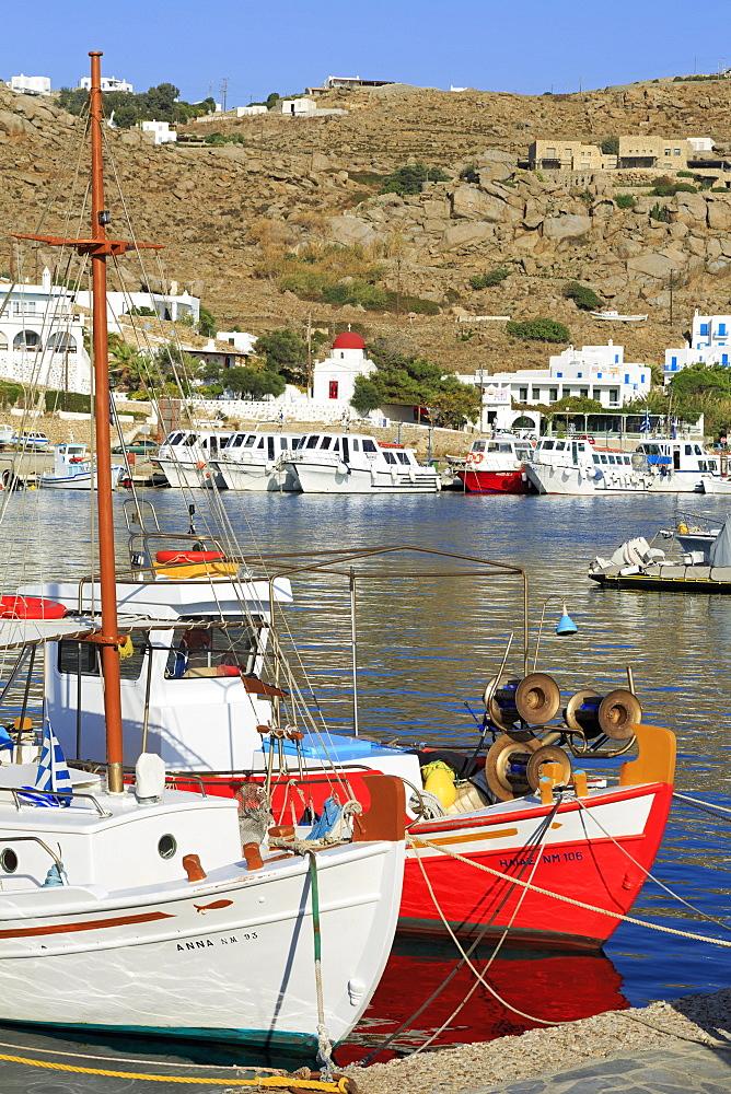 New Port, Mykonos Island, Cyclades, Greek Islands, Greece, Europe