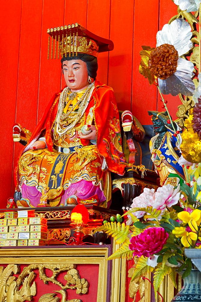 Buddha in Hainan Temple, Georgetown, Penang Island, Malaysia, Southeast Asia, Asia