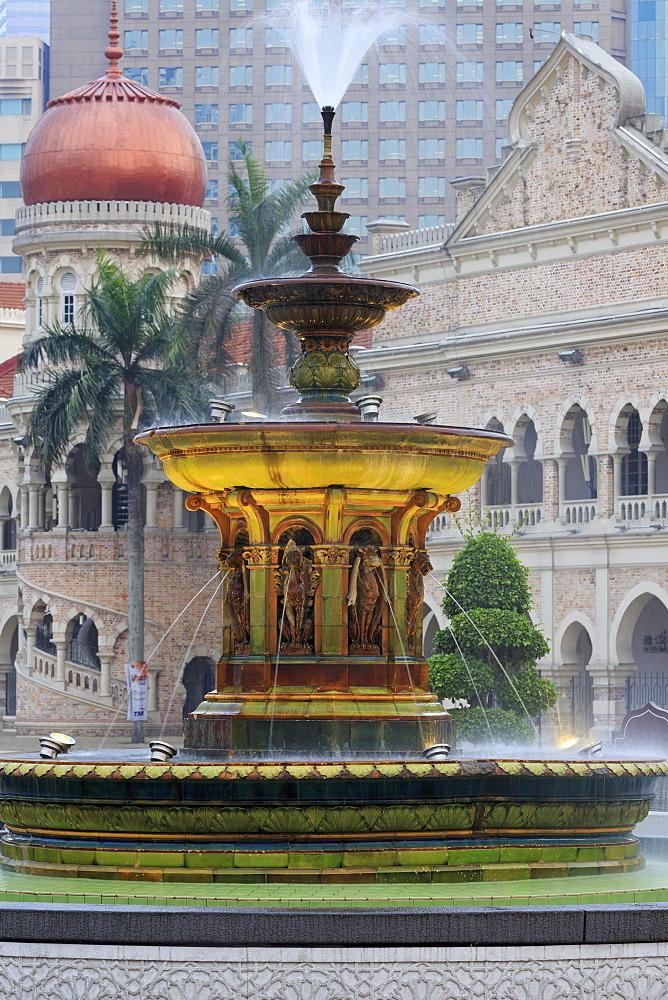 Merdeka Square Fountain, Kuala Lumpur, Malaysia, Southeast Asia, Asia
