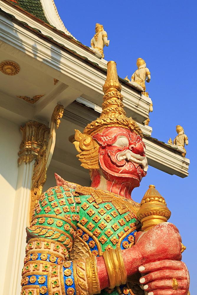 Warrior in Wat Chamongkron Royal Monastery, Pattaya City, Thailand, Southeast Asia, Asia
