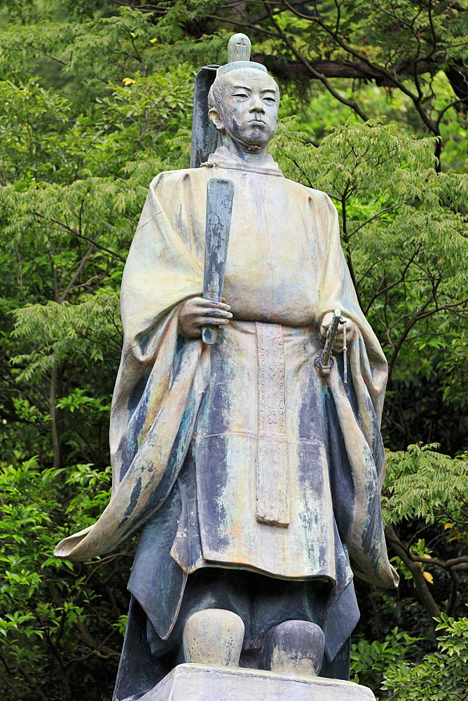 Shimadzu Tadoyoshi Statue, Tanshoen Garden, Kagoshima City, Kyushu Island, Japan, Asia