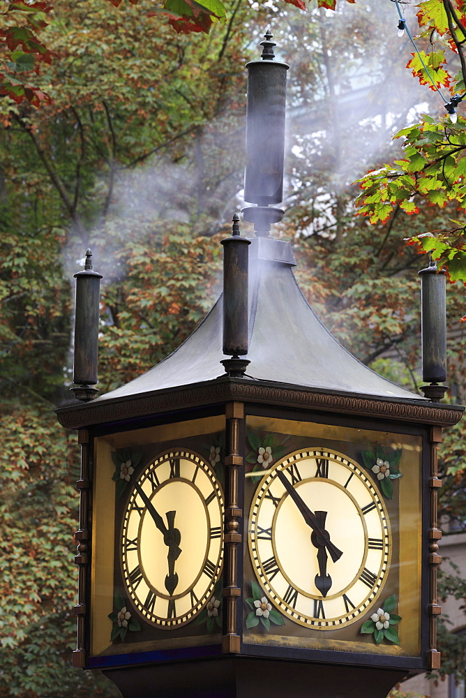 Steam clock, Gastown, Vancouver, British Columbia, Canada, North America