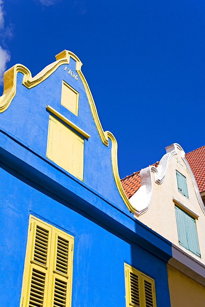 Dutch style architecture, Heerenstraat, Punda District, Willemstad, Curacao, Netherlands Antillies, West Indies, Caribbean, Central America