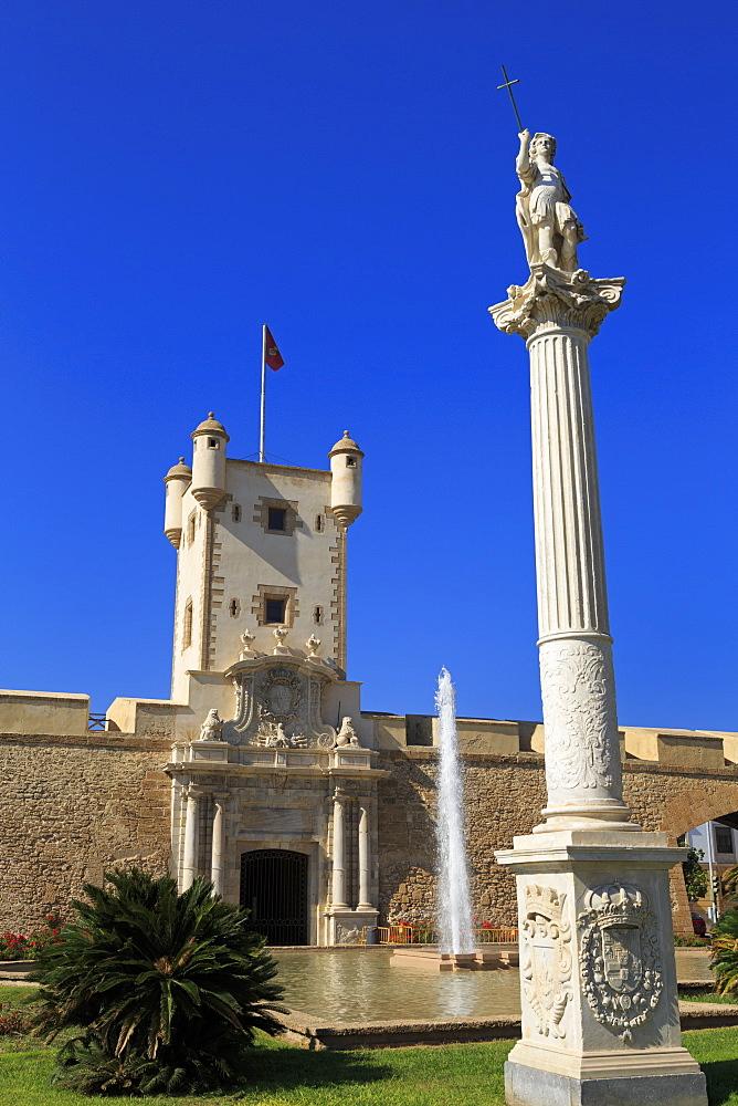 Las Puertas de Tierra, Constitution Plaza, Cadiz, Andalusia, Spain, Europe