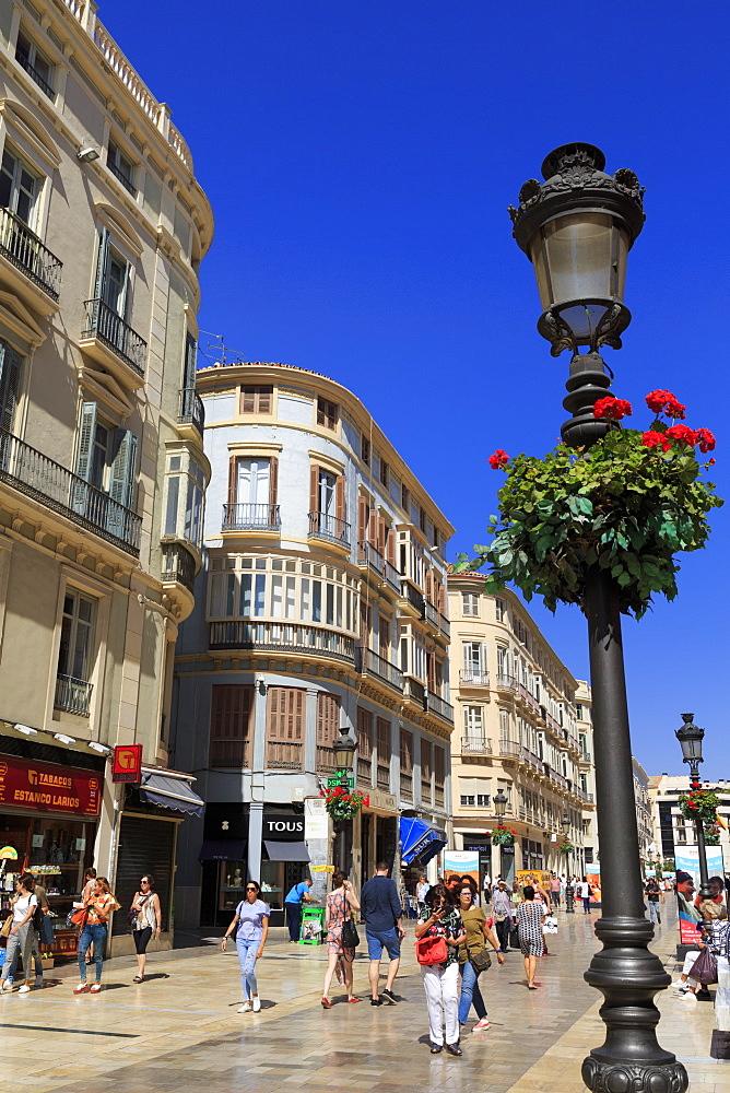 Marques de Larios Street, Malaga City, Andalusia, Spain,Europe