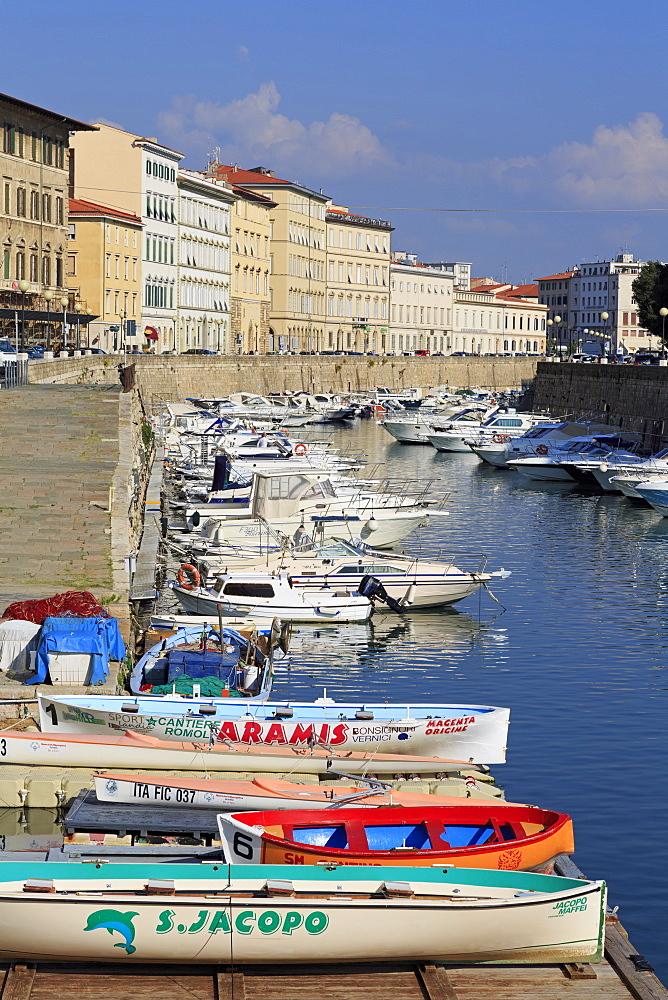Canal, Livorno City, Tuscany, Italy, Europe
