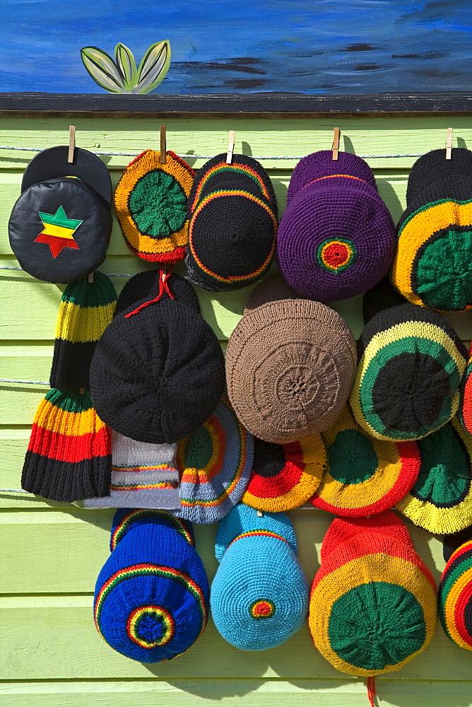 Craft market, Montego Bay, Jamaica, West Indies, Caribbean, Central America - 776-53