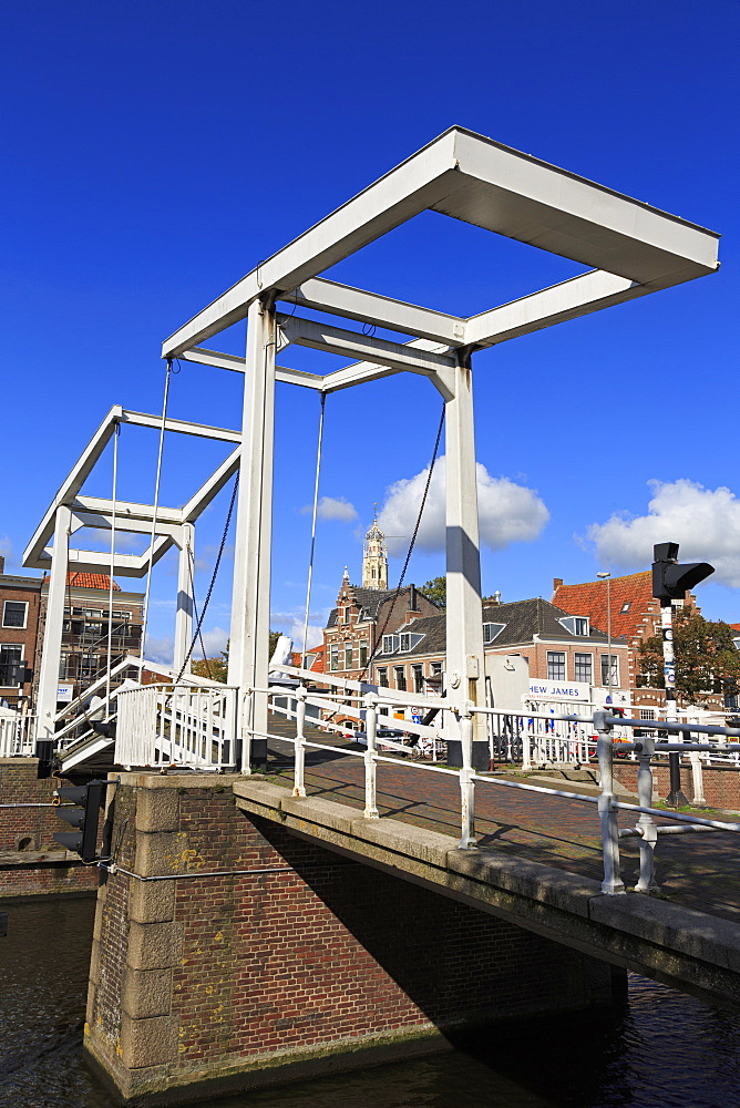 Douche Gravestenebrug Bridge, Haarlem, Netherlands, Europe - 776-5300