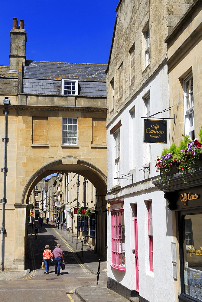 Queen Street, City of Bath, Somerset, England, United Kingdom, Europe