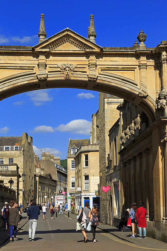 Main Arch, City of Bath, UNESCO World Heritage Site, Somerset, England, United Kingdom, Europe - 776-5408
