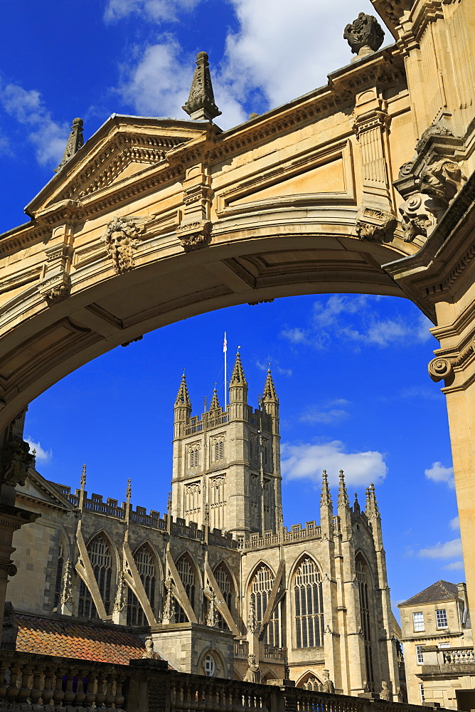 Main Arch and Abbey, City of Bath, UNESCO World Heritage Site, Somerset, England, United Kingdom, Europe - 776-5409
