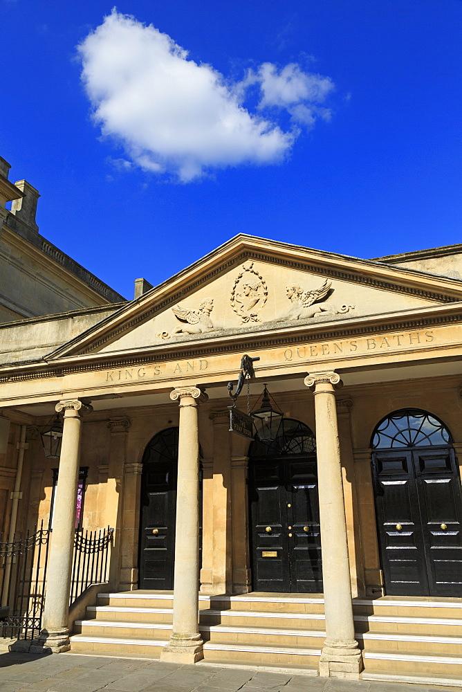 Roman Baths, City of Bath, UNESCO World Heritage Site, Somerset, England, United Kingdom, Europe
