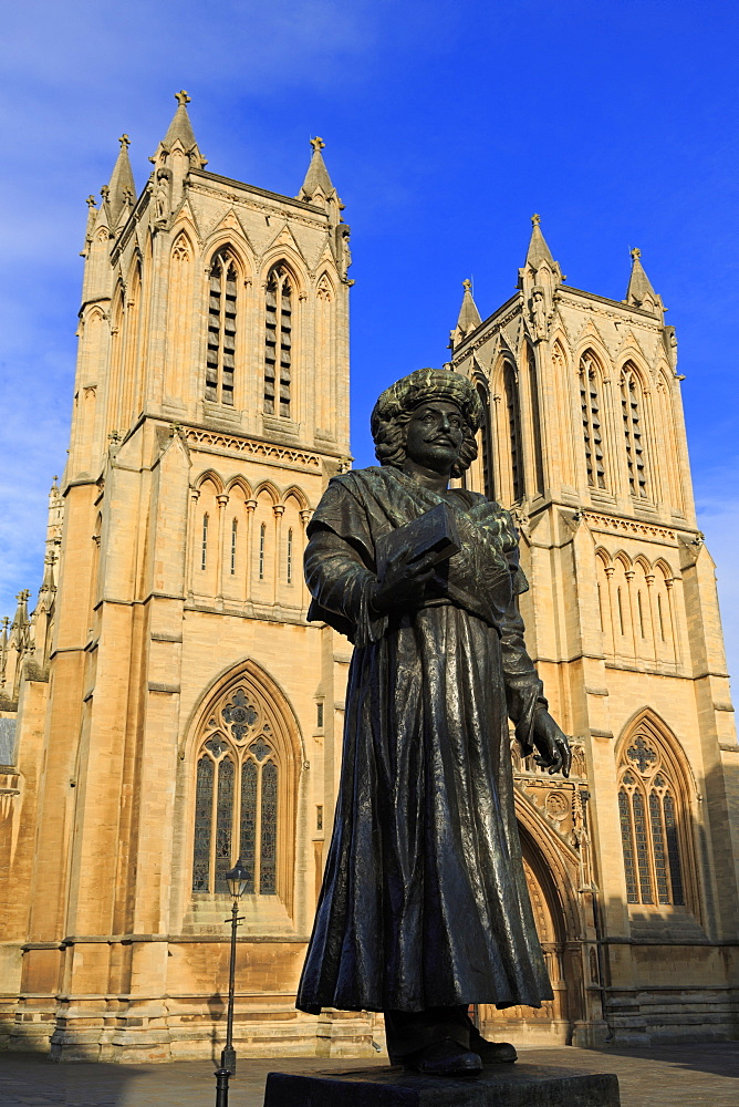 Rajah Rammohun Roy and Bristol Cathedral, Bristol, England, United Kingdom, Europe - 776-5418