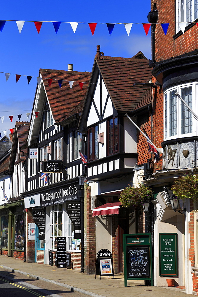 High Street, Lyndhurst Town, New Forest, Hampshire, England, United Kingdom, Europe - 776-5559