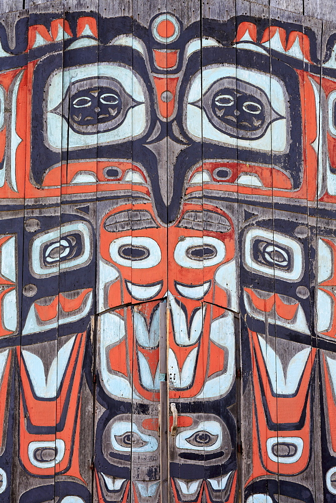 Chilkat Tribal House, Fort Seward, Haines, Lynn Canal, Alaska, United States of America, North America