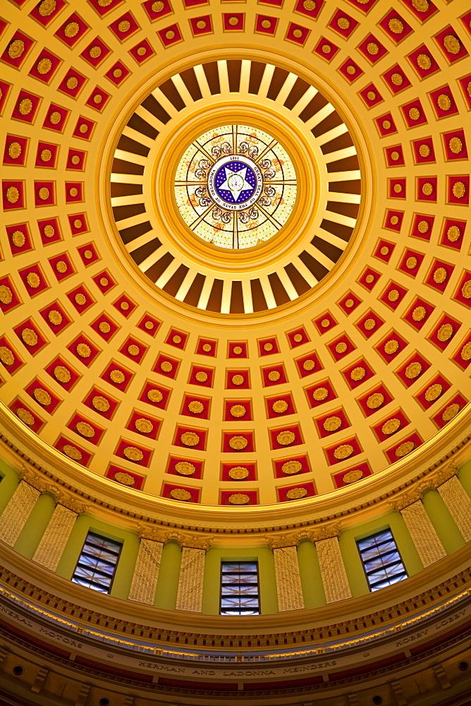 Rotunda, State Capitol Building, Oklahoma City, Oklahoma, United States of America, North America - 776-564