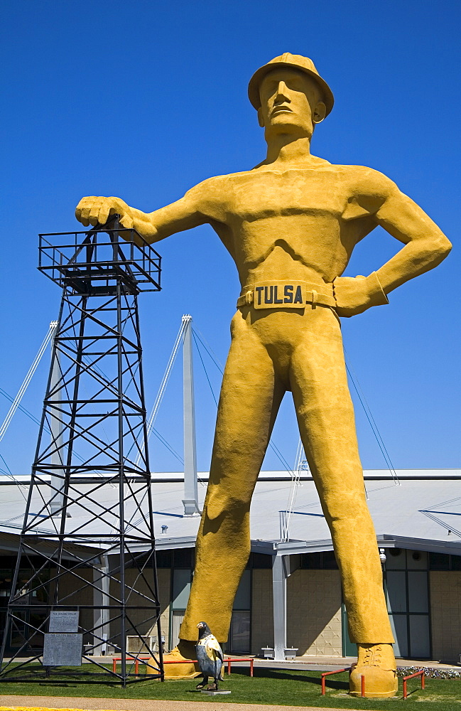 Golden Driller outside the Convention Center, Tulsa City, Oklahoma, United States of America, North America