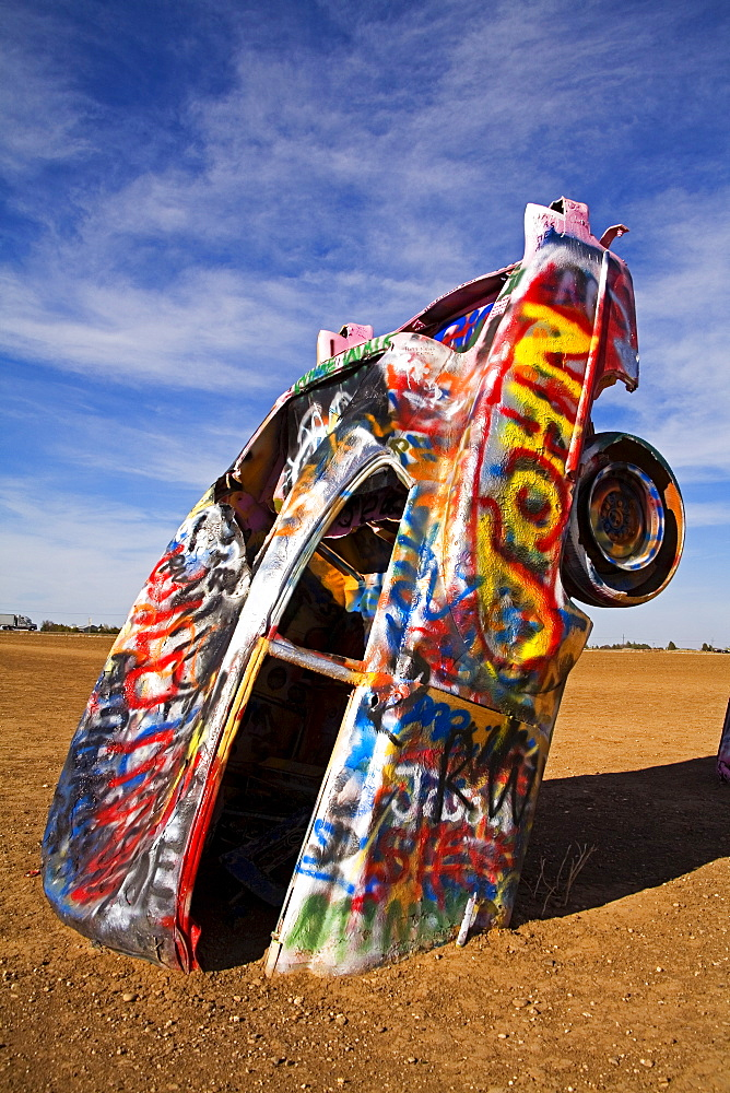 Cadillac Ranch, Historic Route 66 Landmark, Amarillo, Texas, United States of America, North America - 776-643