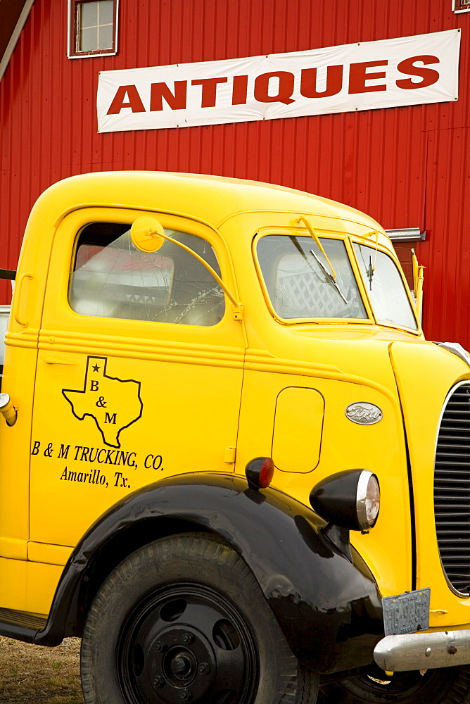 Old truck outside Antique Store, Amarillo, Texas, United States of America, North America - 776-645