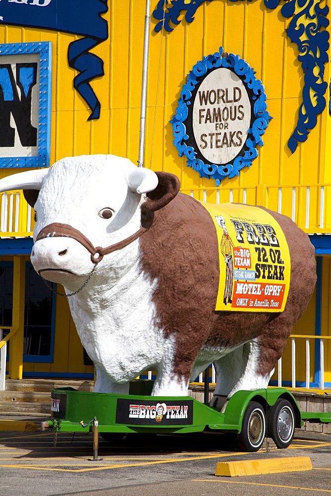 Big Texan Steak Ranch, Historic Route 66, Amarillo, Texas, United States of America, North America - 776-648