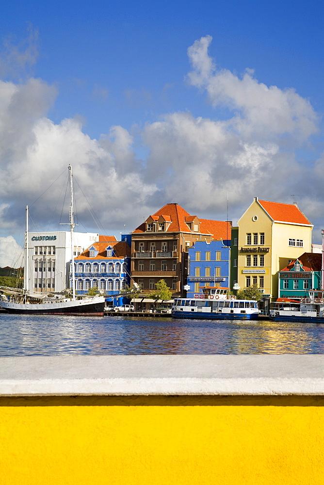 Stores on Handelskade, Punda District, Willemstad, Curacao, Netherlands Antilles, West Indies, Caribbean, Central America