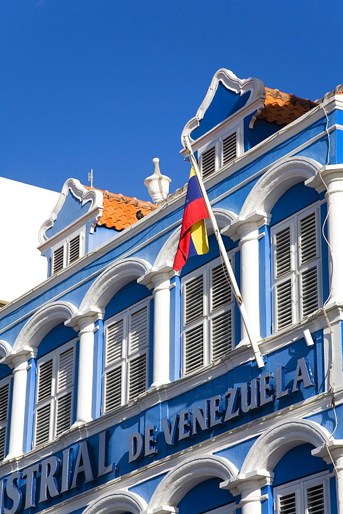 Banco Industrial de Venezuela on Handelskade, Punda District, Willemstad, Curacao, Netherlands Antilles, West Indies, Caribbean, Central America