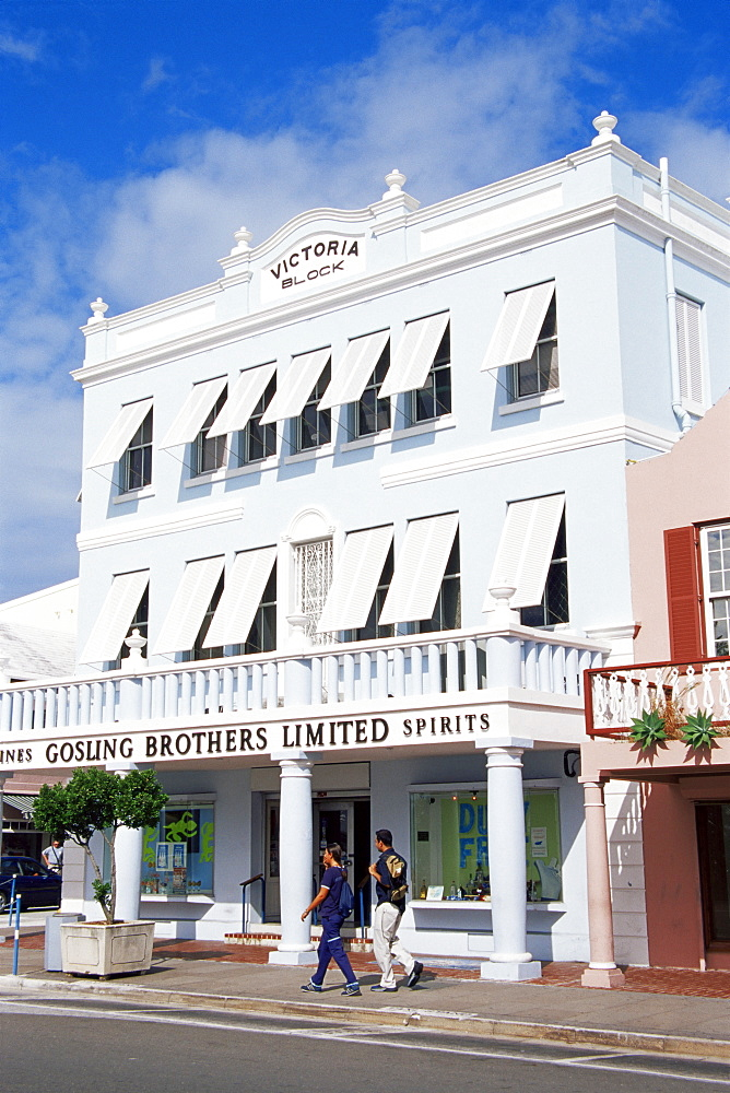 Victoria Building, Front Street, Hamilton, Bermuda, Central America