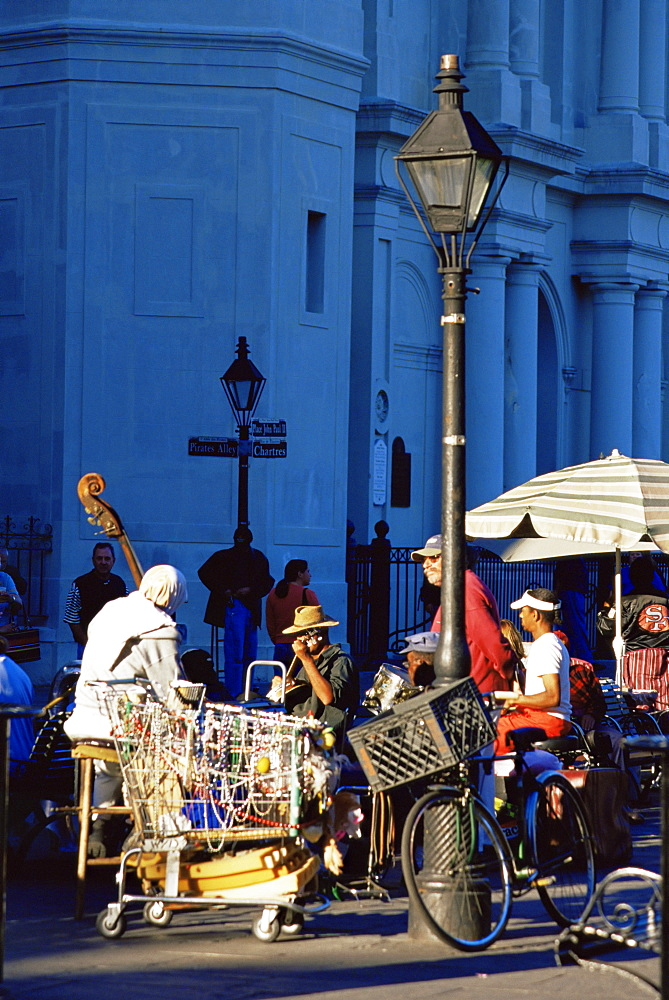 Musicians, Jackson Square, New Orleans, Louisiana, United States of America, North America