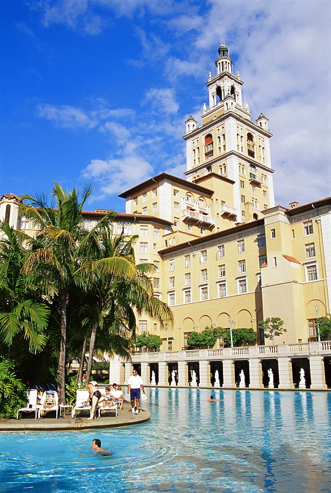 Pool at Baltimore Hotel, Coral Gables, Miami, Florida, United States of America, North America