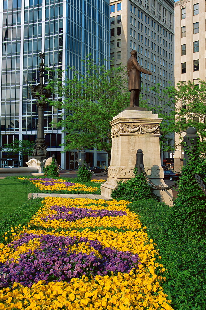 Monument Circle, Indianapolis, Indiana, United States of America, North America