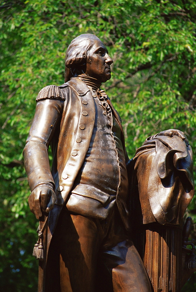 Statue of George Washington, State Capitol grounds, Raleigh, North Carolina, United States of America, North America