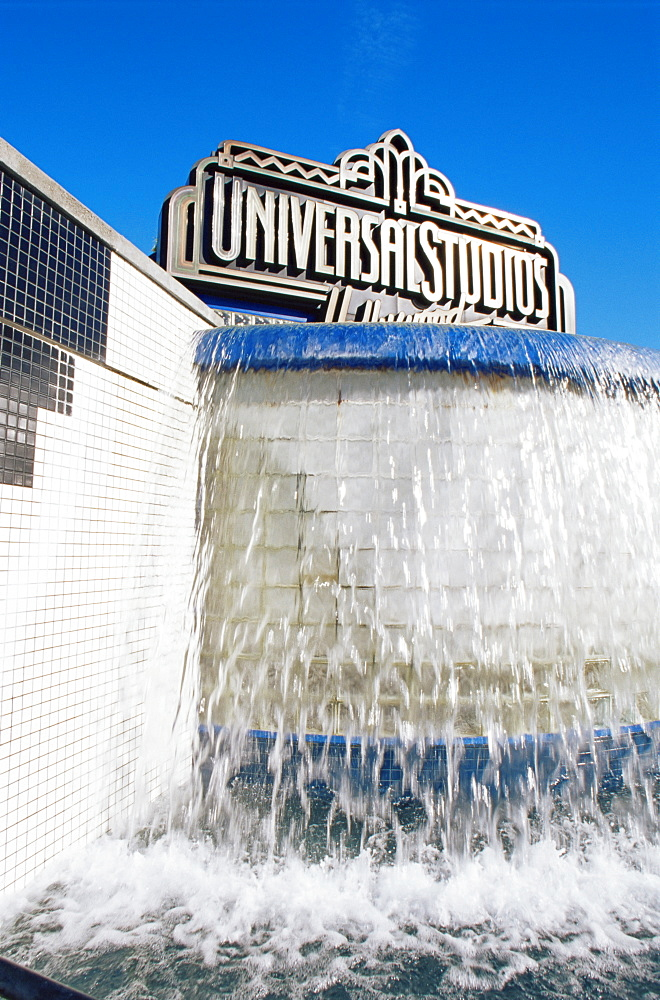Universal Studios fountain, Hollywood, Los Angeles, California, United States of America, North America